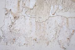 Stary moździerz ściany gnicia tło obrazy stock