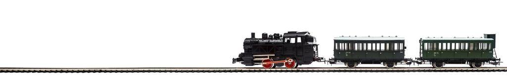 Stary model pociąg pasażerski obraz stock