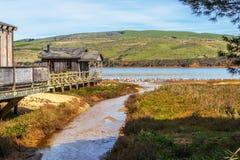 Stary molo dom w Północnym Kalifornia Obrazy Royalty Free
