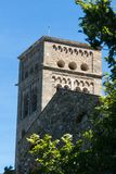 Stary monaster dzwonił Sant Pere De Rodes, Catalonia, Hiszpania obraz royalty free