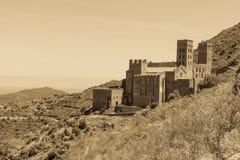 Stary monaster dzwonił Sant Pere De Rodes, Catalonia, Hiszpania zdjęcia royalty free