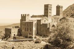 Stary monaster dzwonił Sant Pere De Rodes, Catalonia, Hiszpania obraz stock