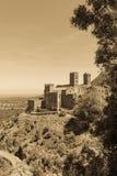 Stary monaster dzwonił Sant Pere De Rodes, Catalonia, Hiszpania zdjęcie royalty free