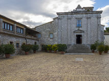 Stary monaster na wierzchołku góra Conero, Marche, Włochy Obraz Royalty Free