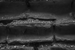 Stary monochromatyczny ściana z cegieł, kamienny tło lub skały powierzchnia dobrzy dla, - strony internetowej lub urządzeń przeno Zdjęcie Stock