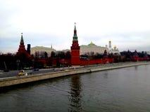 Stary Moskwa Kremlin, widok od mosta Zdjęcie Stock