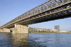 The Stary most bridge in Bratislava, Slovakia Stock Photography