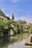 Stary most na Rzecznym Eure w Chartres Zdjęcia Stock