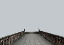 Stary most na szarym tle Fotografia Stock