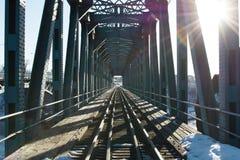 stary most pociąg fotografia stock