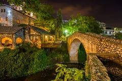 Stary most w Mostar, Bośnia i Herzegovina - obraz stock