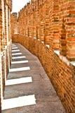 Stary most w Verona nad Adige rzeką, Castelvecchio Fotografia Stock