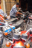 stary motocykl Obraz Royalty Free