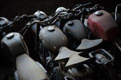 Stary motocykl z rzędu Obraz Stock