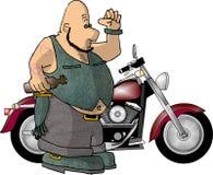 stary motocyklistów royalty ilustracja