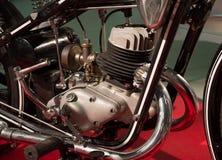 Stary motocyklu silnik, doczepiania i zdjęcie stock