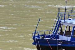 Stary motorboat jachtu łęk Obraz Royalty Free