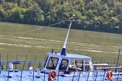 Stary motorboat jachtu łęk Obraz Stock