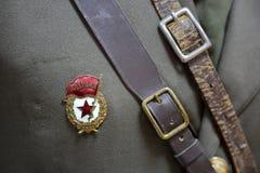Stary mundur żołnierze Czerwony Radziecki wojsko zdjęcia stock