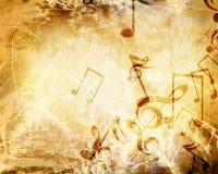 Stary muzyczny prześcieradło Fotografia Stock