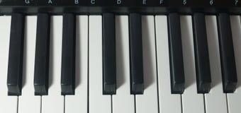 Stary Muzykalny Elektroniczny Klasyczny pianino Zdjęcie Royalty Free