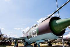 Stary Myśliwski Militarny Dżetowy samolot Zdjęcie Royalty Free