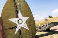 Stary Myśliwski Militarny Dżetowy samolot Zdjęcia Stock