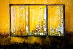 stary nadokienny kolor żółty Zdjęcia Royalty Free