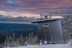 Stary narciarski dźwignięcie Obraz Royalty Free