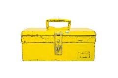 Stary narzędzia pudełko odizolowywa Zdjęcie Royalty Free