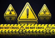 Stary niebezpieczeństwo znak Zdjęcie Royalty Free