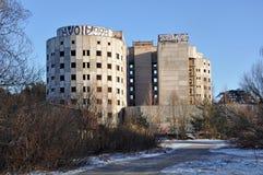 Stary niedokończony budynek macierzyński szpital Obrazy Stock