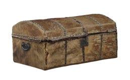 Stary niegarbowany zakrywający bagażnik odizolowywający zdjęcie royalty free
