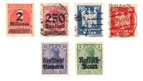 Stary niemiec znaczek Zdjęcie Stock
