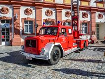 Stary niemiecki jednostka straży pożarnej samochód - Magirus Deutz Fotografia Stock