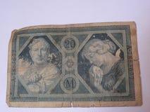 stary niemiecki pieniądze Fotografia Royalty Free
