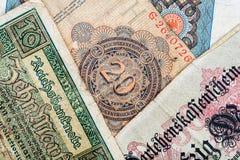 stary niemiecki pieniądze Obraz Royalty Free