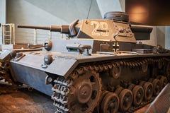 Stary Niemiecki zbiornik od drugiej wojny światowa obraz stock