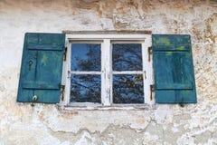 stary nieociosany okno Obrazy Stock