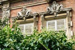 stary nieociosany okno Fotografia Royalty Free