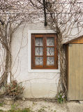 stary nieociosany okno Obraz Royalty Free