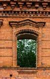 stary nieociosany okno Zdjęcie Stock