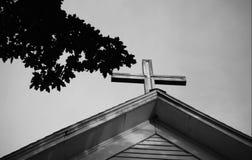 Stary Niewygładzony krzyż zdjęcia royalty free