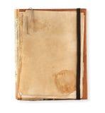 Stary notatnik na białym tle Obrazy Royalty Free