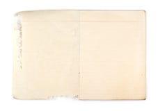 Stary notatnik z dziurą Fotografia Stock