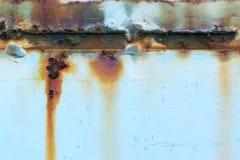 Stary ośniedziały barwiony metalu tło Obraz Stock