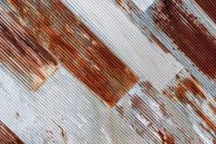 Stary ośniedziały cynkowy tekstura wzoru tło Obrazy Stock
