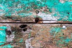 Stary ośniedziały koloru twardego drzewa deski zbliżenie dla tła fotografia royalty free