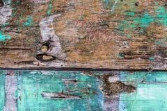 Stary ośniedziały koloru twardego drzewa deski zbliżenie dla tła use fotografia royalty free