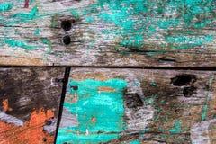 Stary ośniedziały koloru twardego drzewa deski zbliżenie dla tło użytkownika obrazy stock